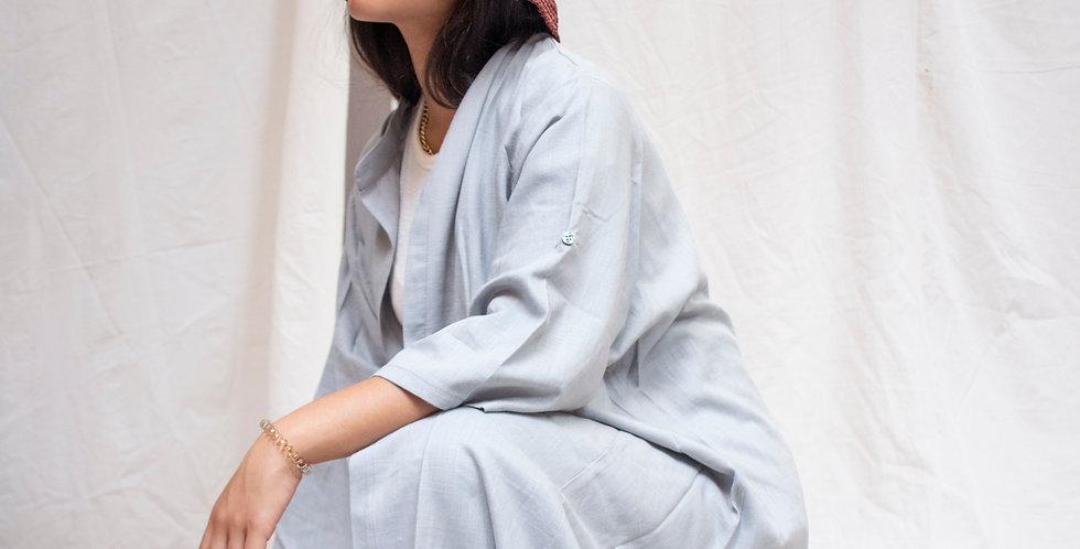 Pocket Kimono in Grey