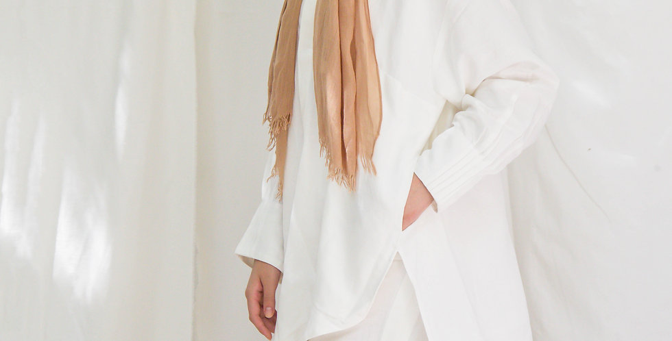 White Side Pleated Pants