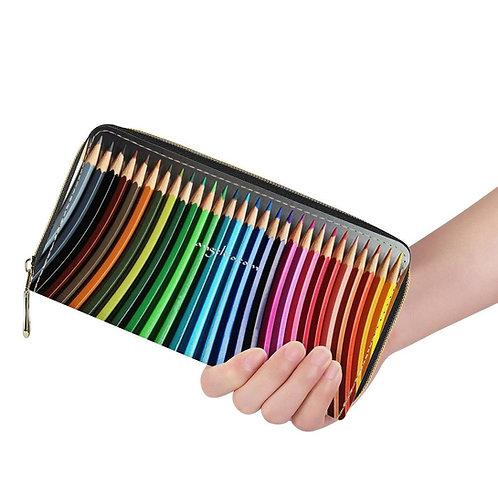 Lange Brieftasche ZIP Farbstifte multicolor