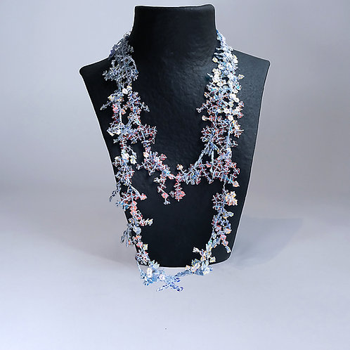 Collier Corall neon blue