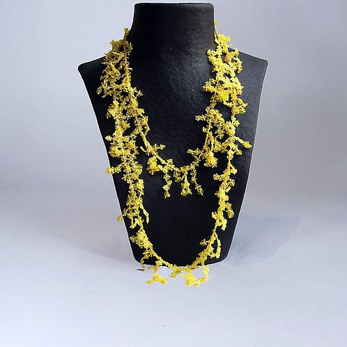 Collier Corall yellow matt