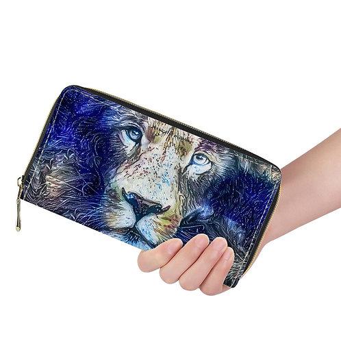 Lange Brieftasche ZIP Löwe blau multicolor