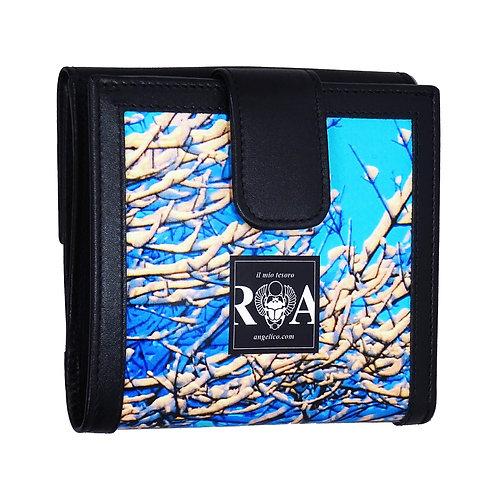 Brieftasche Maxi Schnee blau