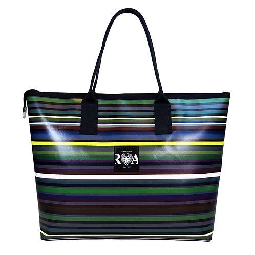 Shopper Beach Streifen dunkel