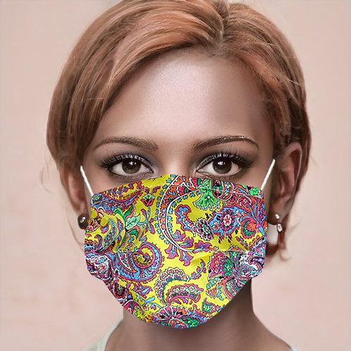 Gesichtsmaske Paisleymuster gelb | limited edition