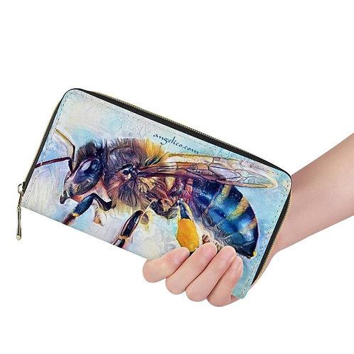 Lange Brieftasche ZIP Honigbiene gelb