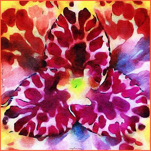 Seidenschal Carré Orchideen