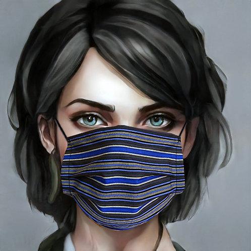 Gesichtsmaske Streifen blau-weiss |  limited edition