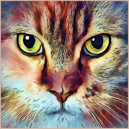 Seidenschal Carré Katze | Cat