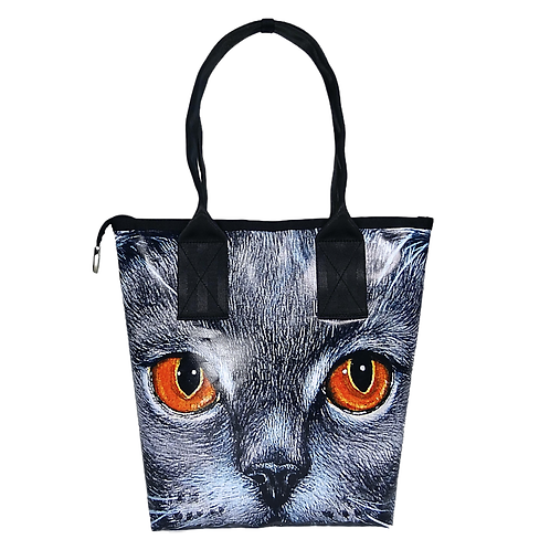 Shopper Mini Kartäuser-Katze