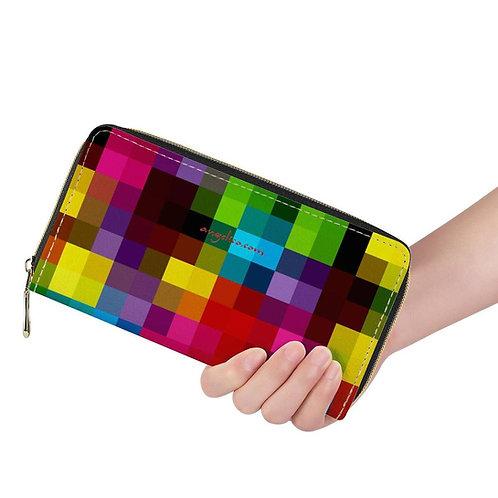 Lange Brieftasche ZIP Pixelkaro multicolor