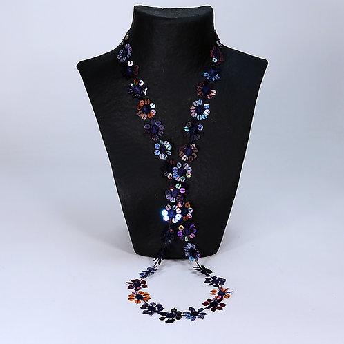 Collier Guipure violett multicolor