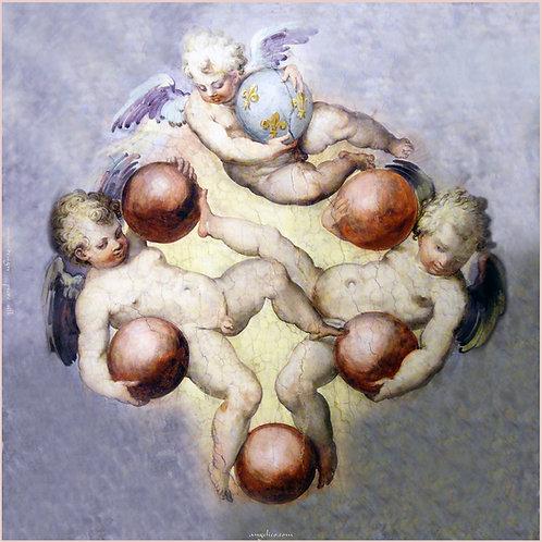 Seidenschal Carré Engel Puten