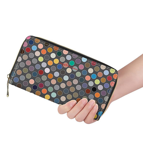 Lange Brieftasche ZIP Tupfen multicolor