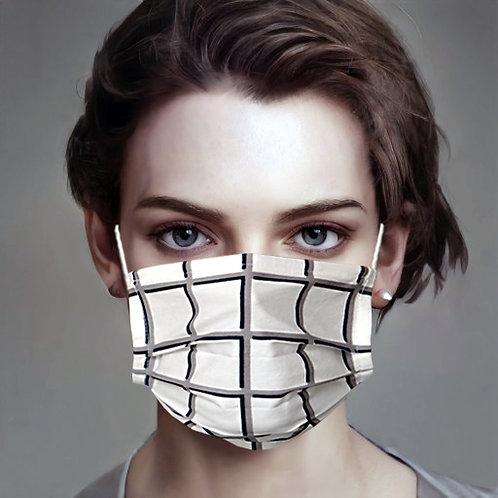 Gesichtsmaske Karo schwarz-weiss | limited edition