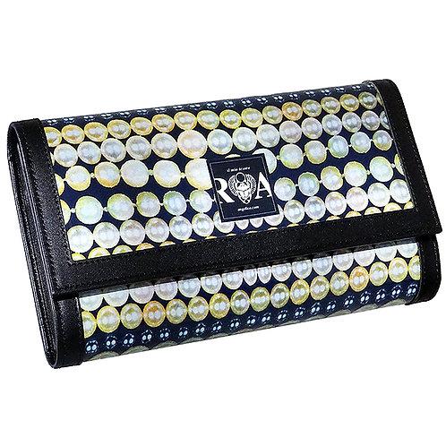Brieftasche Deluxe  Perlen marine