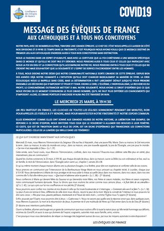 Message des évêques de France pour la solennité de l'Annonciation