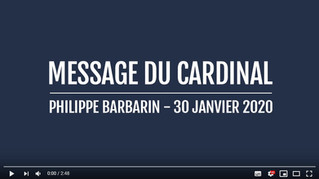 Message du Cardinal Philippe Barbarin
