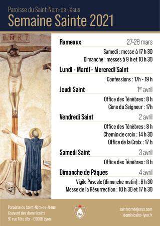 Programme de la Semaine Sainte