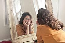 Visage femme réflexologie faciale