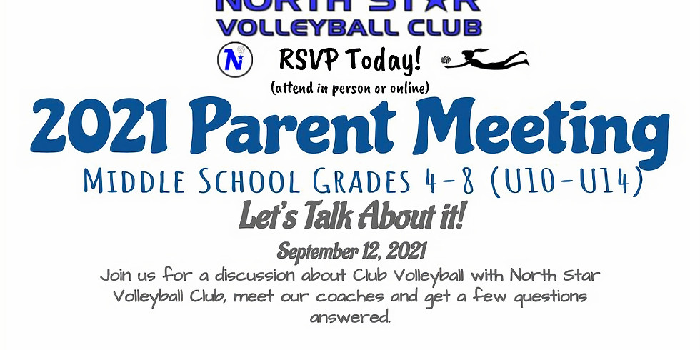 North Star Middle School Club Parent Meeting