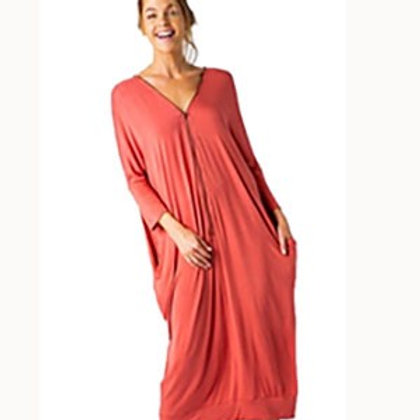 Marsala Zipper Dress