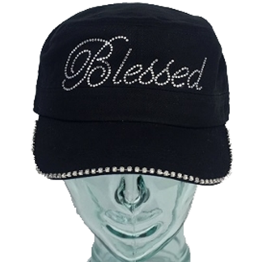 Blessed Rhinestone Ball Cap