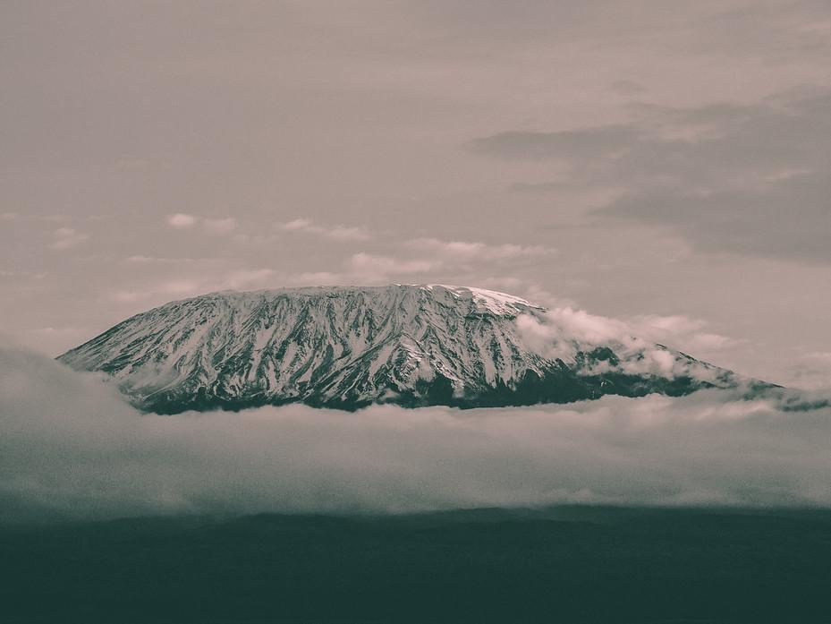 Legendary view of the mountain Kilimanjaro