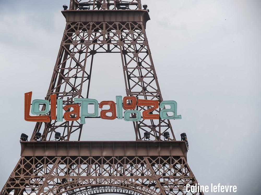 La Tour Eiffell Lolla  (crédit photo Coline Lefevre)
