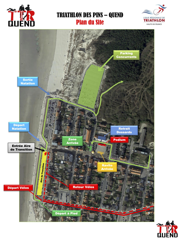 Triathlon des Pins Quend 2020 Plans du S