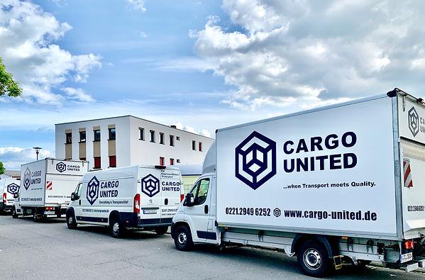 Fahrzeuge der Firma Cargo United