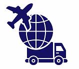 Luftfracht, Zugelassene Transporteure Symbol in blau.