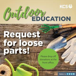 KCS Outdoor Education Loose Parts
