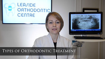 "Types of Orthodontic Treatment Early orthodontic treatment (also known as ""interceptive orthodontic treatment"" or ""Phase 1"" treatment) is a type of orthodontic intervention for our young patients. The aim of Phase 1 treatment is to create a better environment for incoming adult teeth. Some examples are the insertion of a habit breaker for a patient with a thumb-sucking habit or the expansion of a narrow upper jaw to eliminate a lower jaw shift. If left untreated, these functional problems result in skeletal deformation of jaws, which is more difficult to correct in the teenage years.    Comprehensive orthodontic treatment is treatment for patients who are in late mixed dentition (almost all adult teeth are in the mouth) or permanent dentition (no baby teeth present) stages. For misaligned teeth in patients with good facial proportions, braces or clear aligners are the go-to orthodontic appliances. If improvement of jaw misalignment is desired, then growth modification appliances such a"