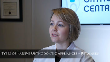 Types of Passive Orthodontic Appliances – RETAINERS After orthodontic treatment has completed, there is a tendency for teeth to return back to their pre-treatment positions. To prevent this, a combination of fixed and removable retainers is used to stabilize the orthodontic treatment outcome. The fixed retainer is a simple wire that is glued behind the front teeth. It could be placed only on the lower front teeth or both the upper and lower teeth. The patient is not able to remove this type of retainer. Certain tooth movements are best stabilized by this type of retainer. Removable retainers are fabricated at dental labs. Patients are required to wear them full time except when eating or brushing. The individual retention protocol is case specific and must be adhered to completely for stable results.