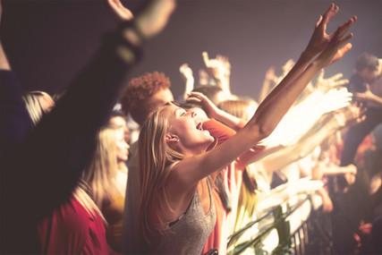 Dancing at concert