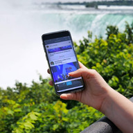 Jamespot aux chutes du Niagara