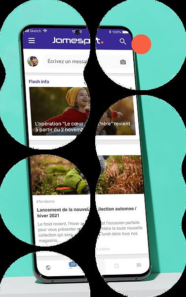 Réseau Social Entreprise mobile