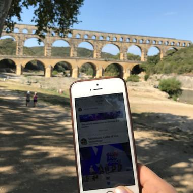 Jamespot au pont du Gard