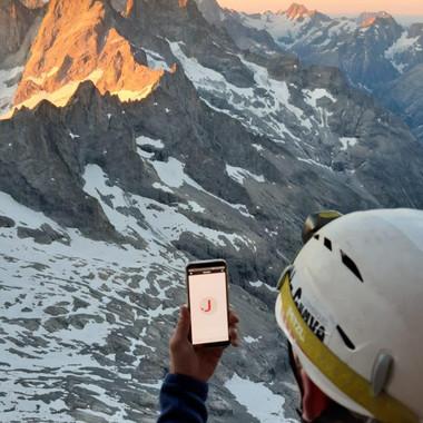 Jamespot dans les Alpes