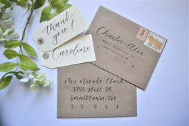 Gift Tags and Envelope Calligraphy