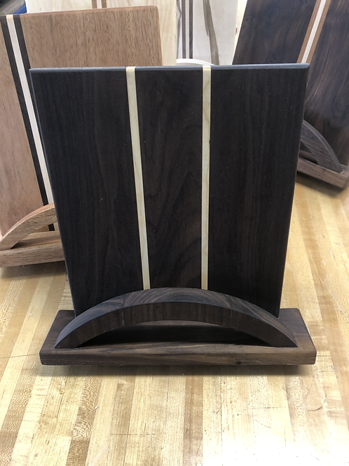Walnut and Maple Cookbook Stand