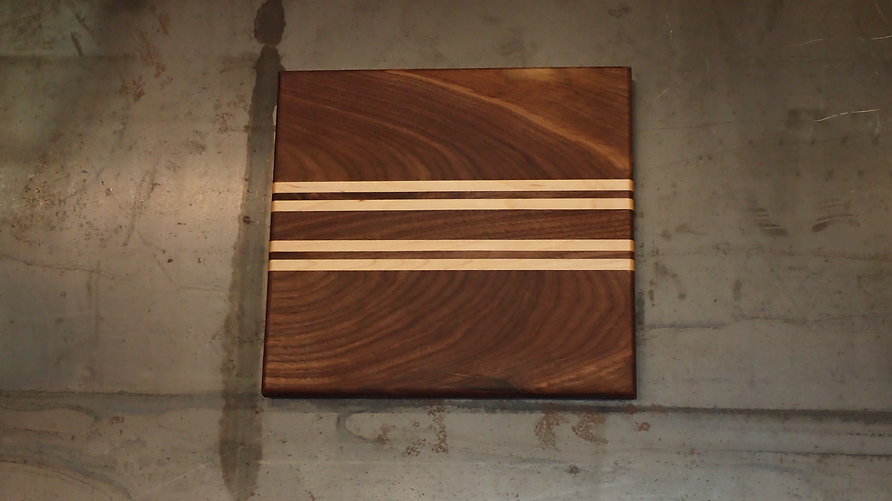 Walnut and Maple Double Stripped Cheese Board