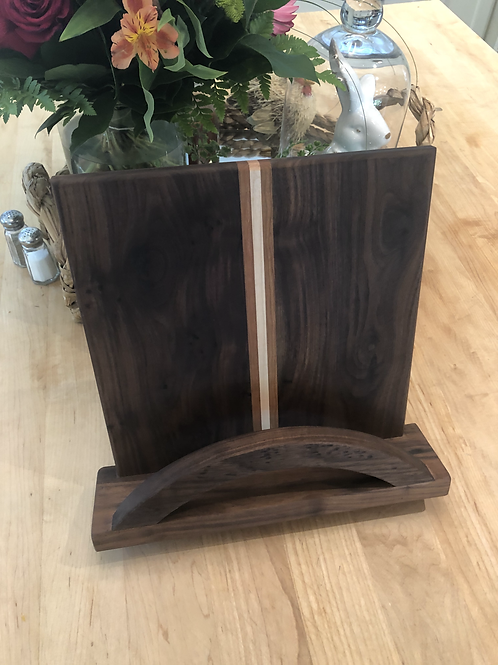 Walnut, Cherry and Maple Cook Book Stand