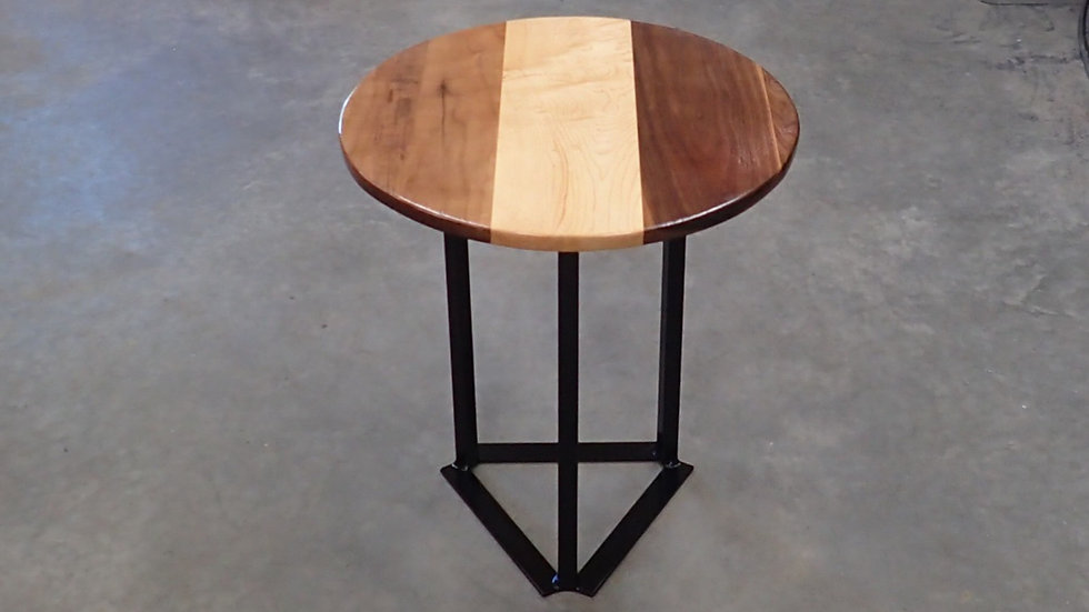 Walnut and Maple Circle Table