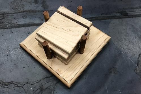 Walnut and Maple Coaster Set