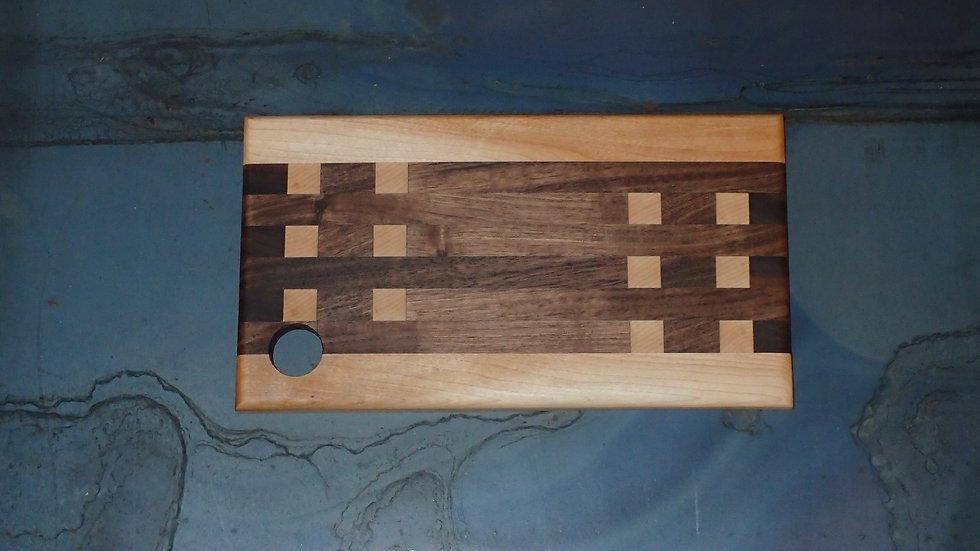 Maple And Walnut Edge / End Grain Cheese Board