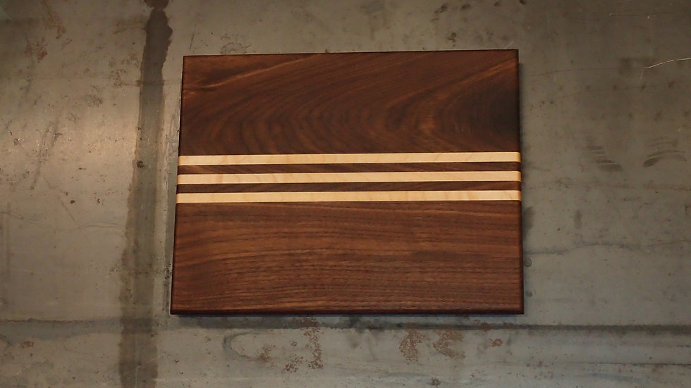 Triple Striped Walnut and Maple Cheese Board