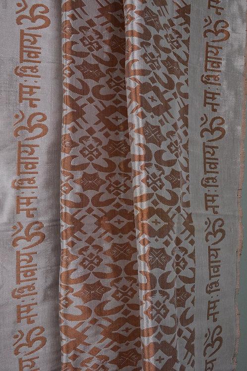OM Namah Shivay Altar Cloth - Handwoven