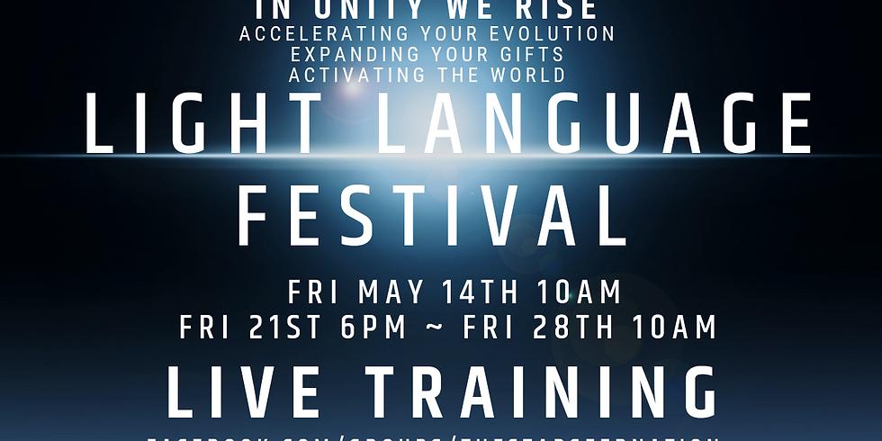 The Light Language Festival TRAINING 21st May 2021